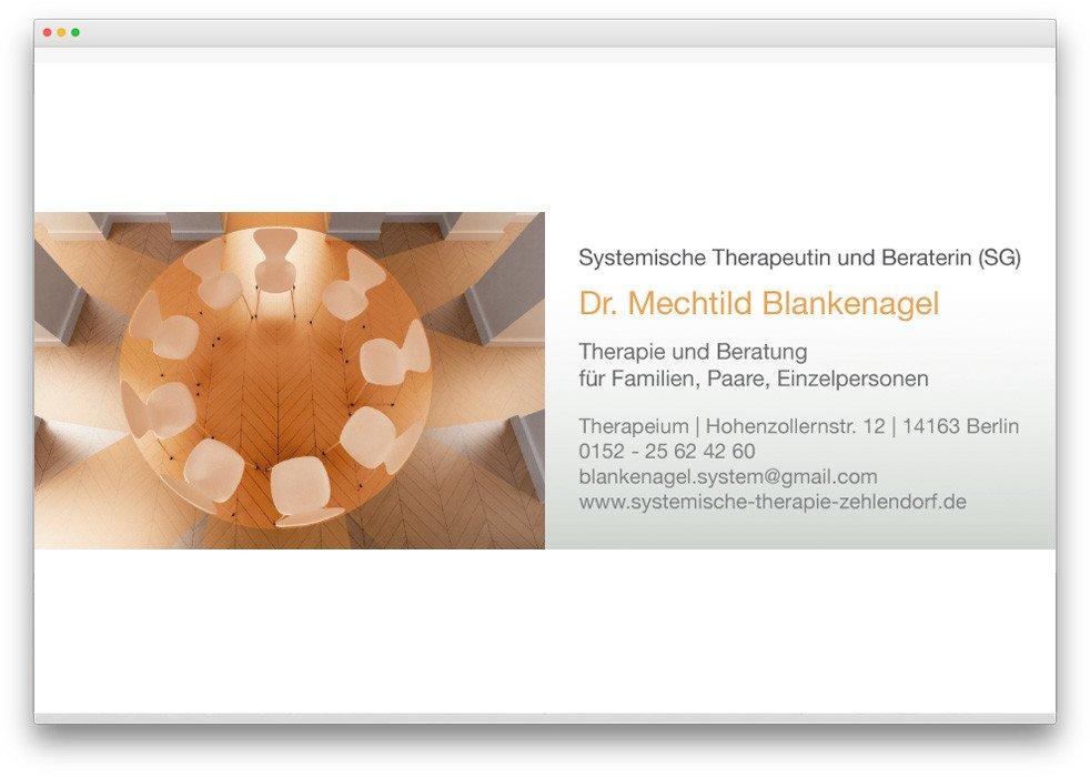 Kunde Systemische Therapie Blankenagel Von Webdesign Und